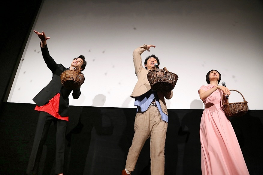 【写真】映画『そらのレストラン』公開記念舞台挨拶 (岡田将生、大泉 洋、本上まなみ)