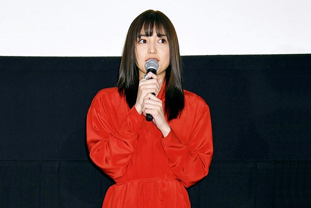 【写真】映画『九月の恋と出会うまで』公開記念舞台挨拶 (川口春奈)