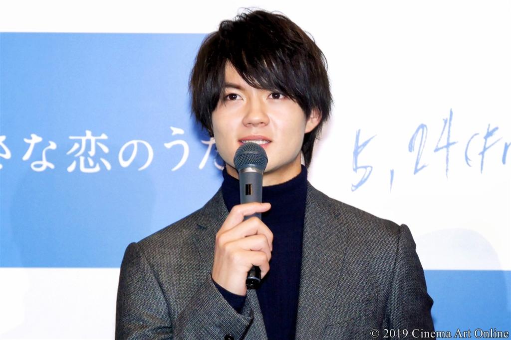 映画『小さな恋のうた』完成報告記者会見 (佐野勇斗)