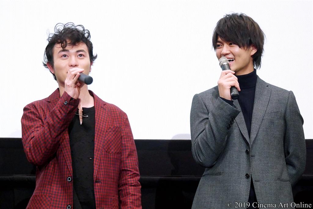 【写真】映画『小さな恋のうた』完成披露舞台挨拶 (佐野勇斗、森永悠希)