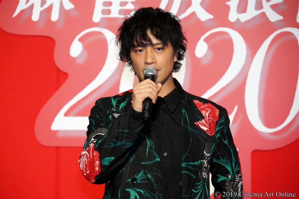 【写真】映画『麻雀放浪記2020』完成報告ステージイベント (斎藤工)