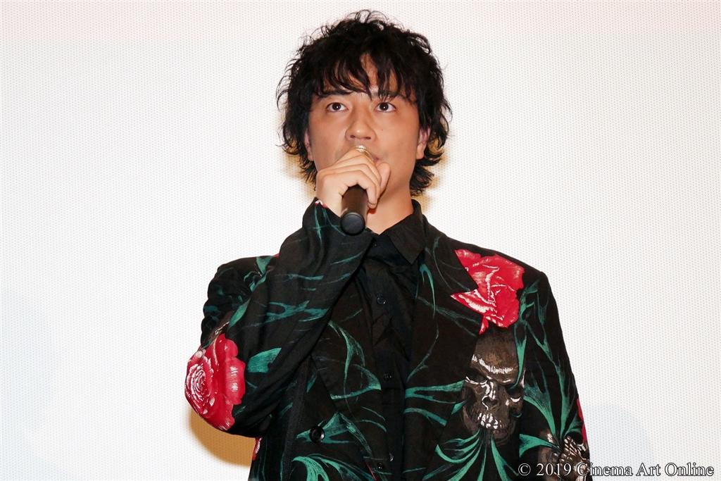 【写真】映画『麻雀放浪記2020』完成報告舞台挨拶 (斎藤工)