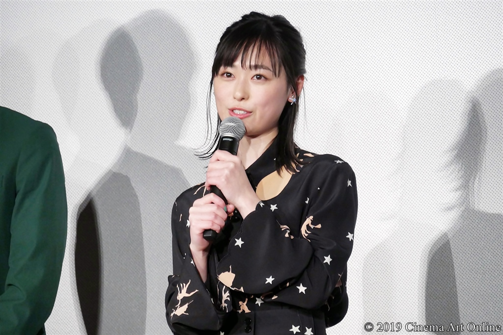 【写真】映画『4月の君、スピカ。』完成披露上映会舞台挨拶 (福原遥)
