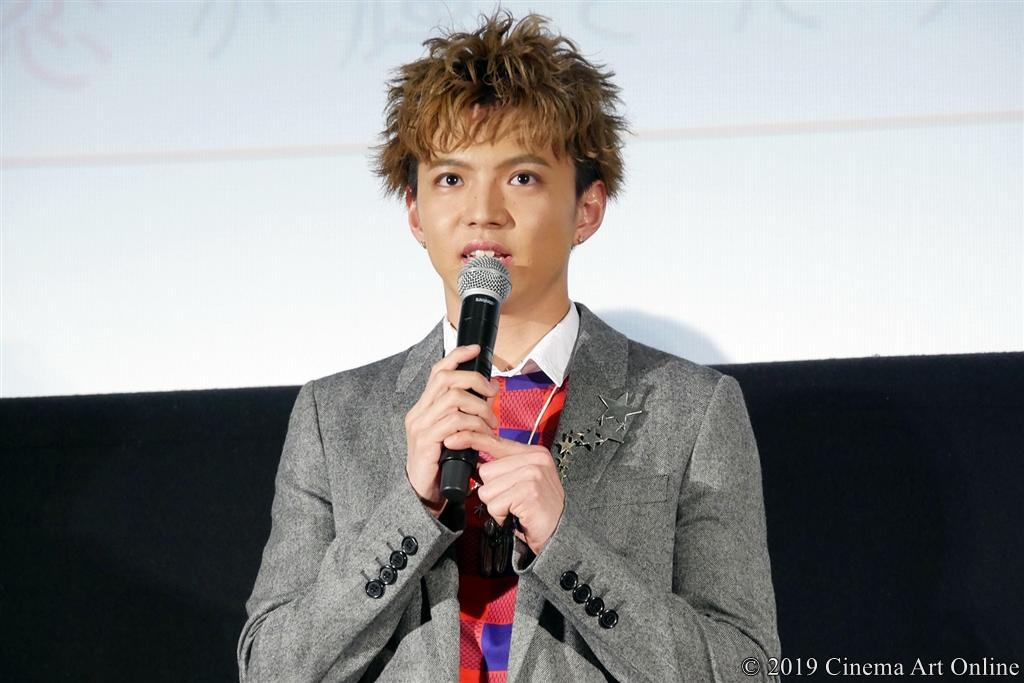 【写真】映画『4月の君、スピカ。』公開初日舞台挨拶 (佐藤大樹)