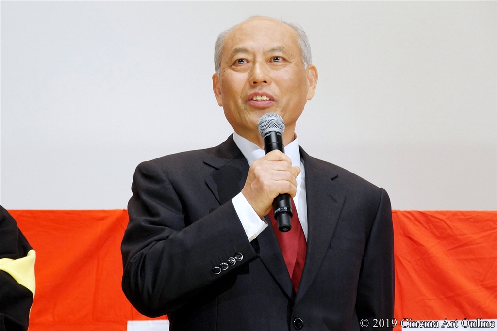 【写真】映画『麻雀放浪記2020』公開初日舞台挨拶 (舛添要一)