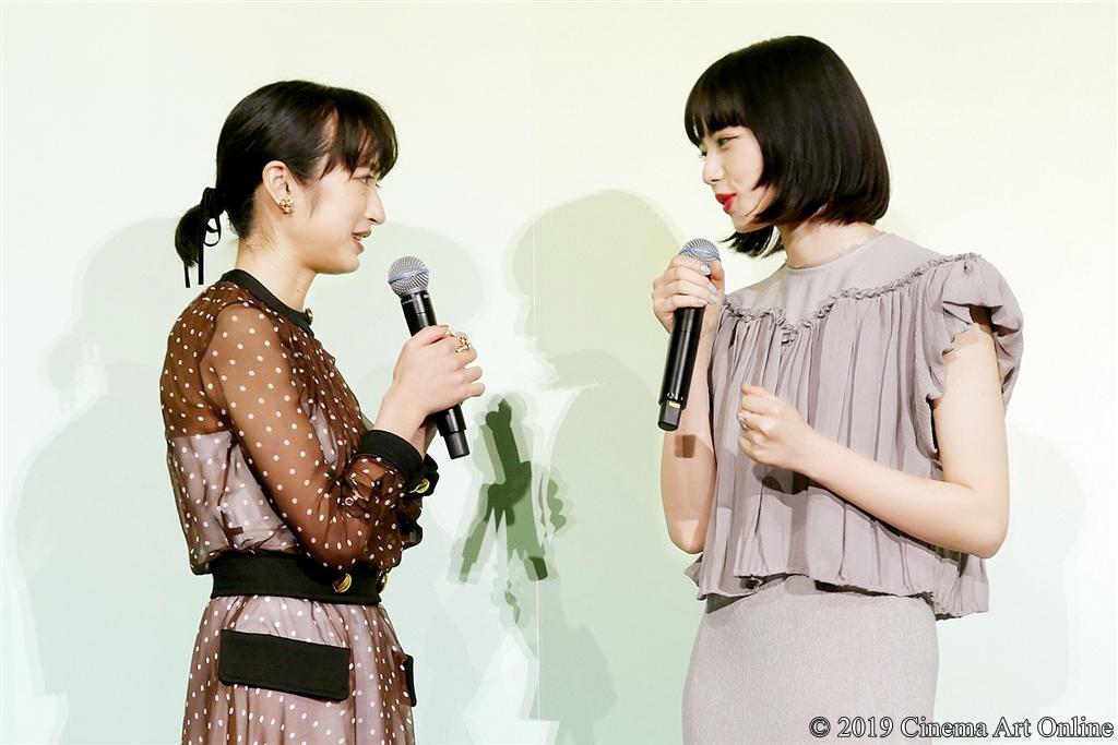 【写真】映画『さよならくちびる』完成披露試写会舞台挨拶 (門脇麦、小松菜奈)