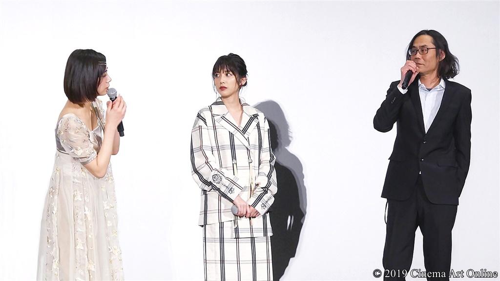 【写真】『映画 賭ケグルイ』公開初日舞台挨拶 (池田エライザ、松田るか、英勉監督)