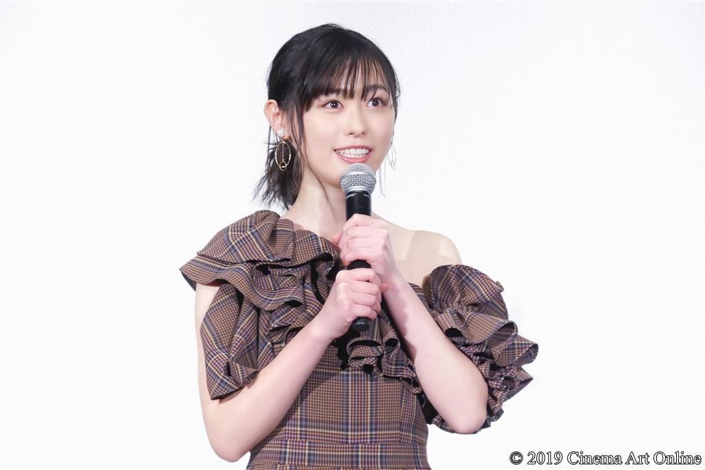 【写真】『映画 賭ケグルイ』公開初日舞台挨拶 (福原遥)