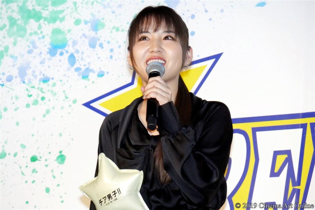 【写真】映画『チア男子!!』公開初日舞台挨拶 (阿部真央)