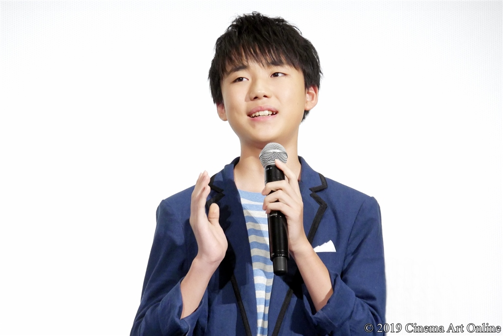 【写真】映画『海獣の子供』公開初日舞台挨拶 (石橋陽彩)