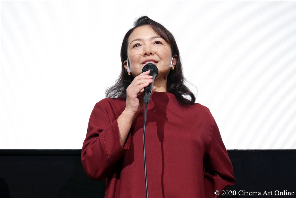 【写真】映画『夏、至るころ』公開初日舞台挨拶(原日出子)