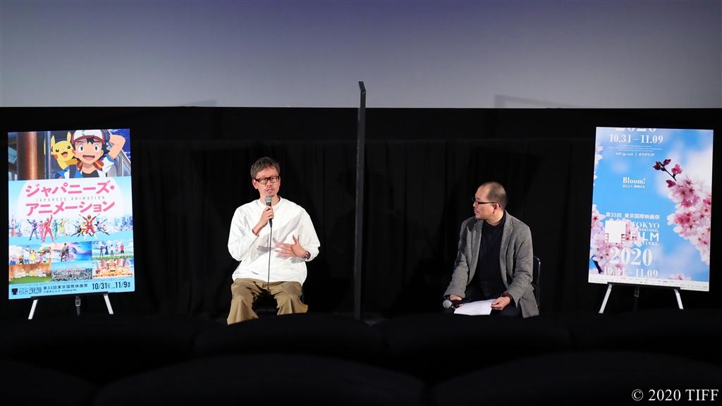 【写真】第33回 東京国際映画祭(TIFF) ジャパニーズ・アニメーション部門 映画『サイダーのように言葉が湧き上がる』舞台挨拶 (イシグロキョウヘイ監督、藤津亮太プログラミング・アドバイザー)