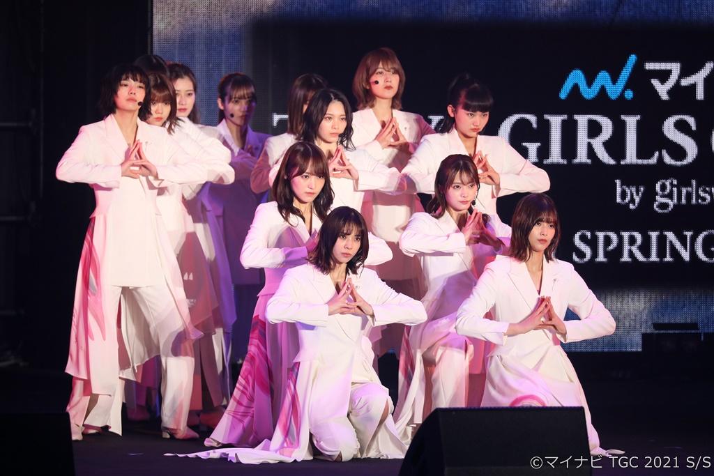 【写真】マイナビ TGC 2021 S/S「ARTIST LIVE」 (櫻坂46)