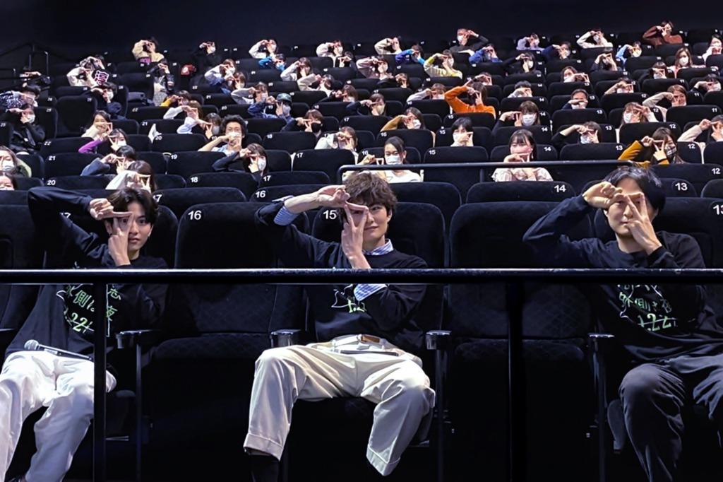 【写真】映画『さんかく窓の外側は夜』森ガキ監督ティーチインイベント (志尊淳、岡⽥将⽣、森ガキ侑⼤監督)