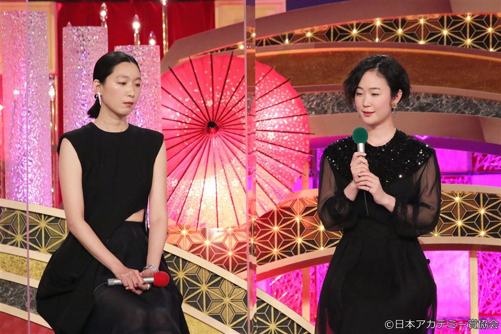 【写真】第44回 日本アカデミー賞 授賞式 優秀助演女優賞:江口のりこ、黒木華