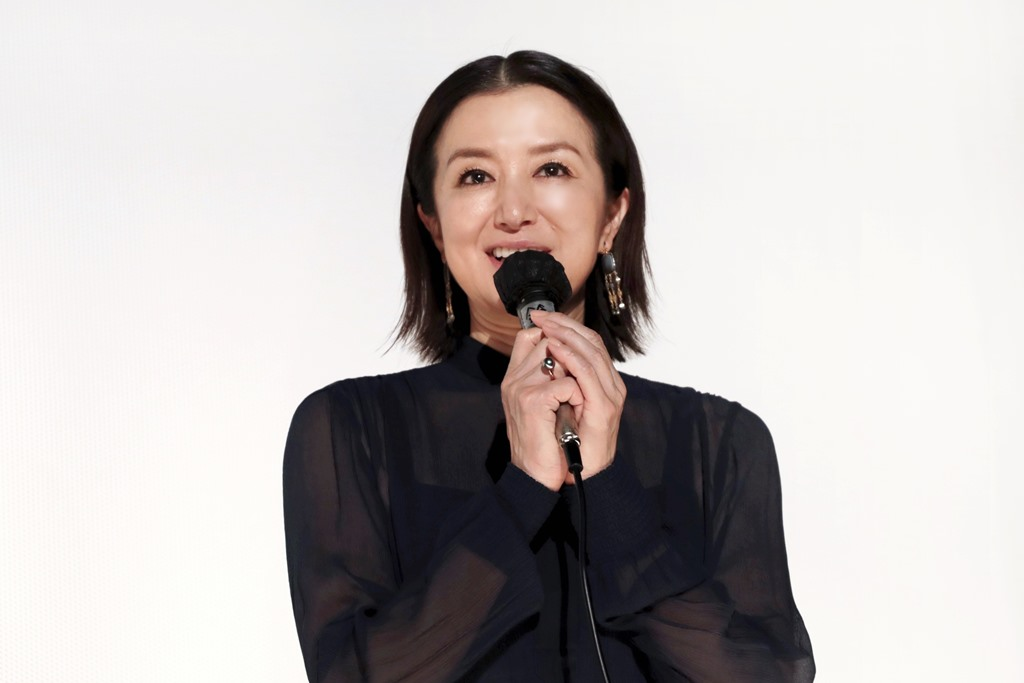 【写真】映画『椿の庭』公開初日舞台挨拶 (鈴木京香)