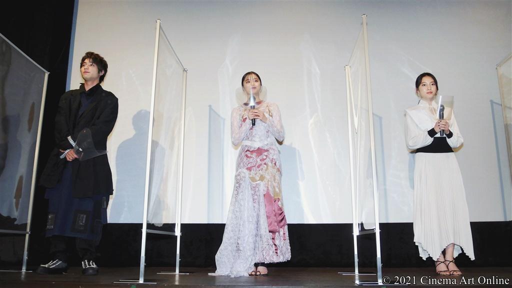 映画『藍に響け』公開記念舞台挨拶 (紺野彩夏、久保田紗友、板垣瑞生)