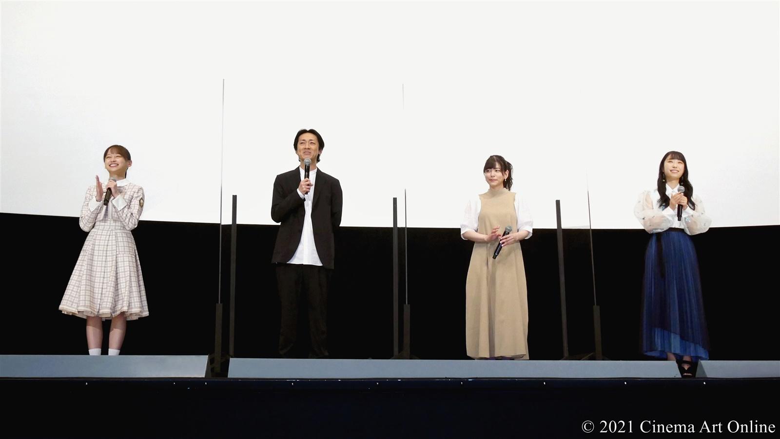 【写真】『映画 さよなら私のクラマー ファーストタッチ』完成記念イベント (島袋美由利、小林愛香、影山優佳、矢部浩之)