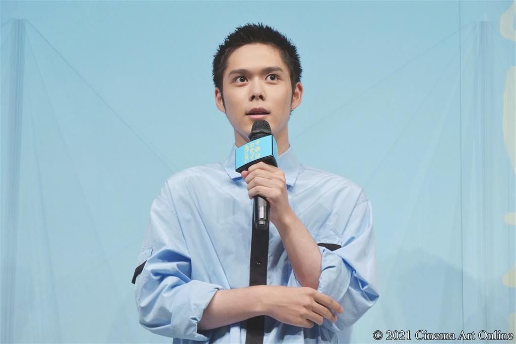 【写真】映画『子供はわかってあげない』完成披露上映会 舞台挨拶 (細田佳央太)