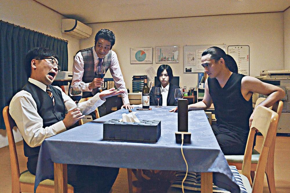 【画像】映画『ザ・ファブル 殺さない殺し屋』場面カット (宇津帆、鈴木、井崎、ヒナコ)