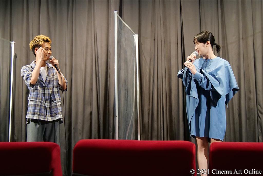 【写真】映画『うみべの女の子』完成披露舞台挨拶 (青木柚、石川瑠華)