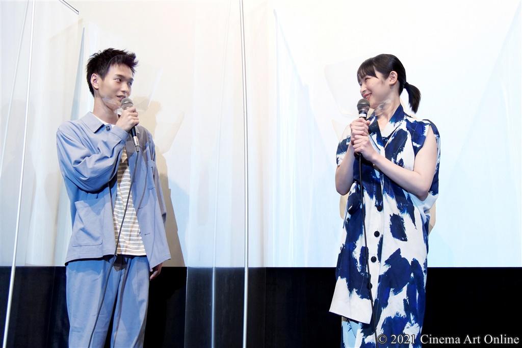 【写真】映画『うみべの女の子』公開初日舞台挨拶 (青木柚、石川瑠華)