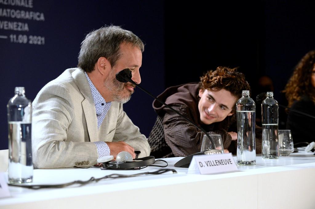【写真】第78回 ヴェネチア国際映画祭『DUNE』記者会見 (ドゥニ・ヴィルヌーヴ監督、ティモシー・シャラメ)