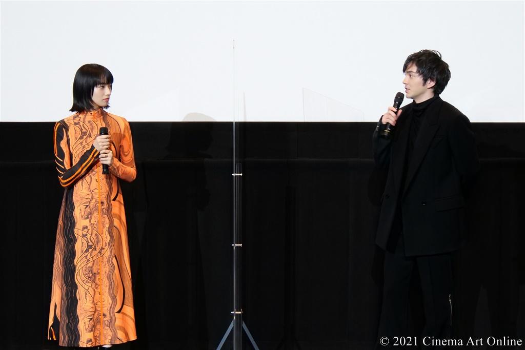 【写真】映画『恋する寄生虫』完成披露試写会 舞台挨拶 (小松菜奈、林遣都)