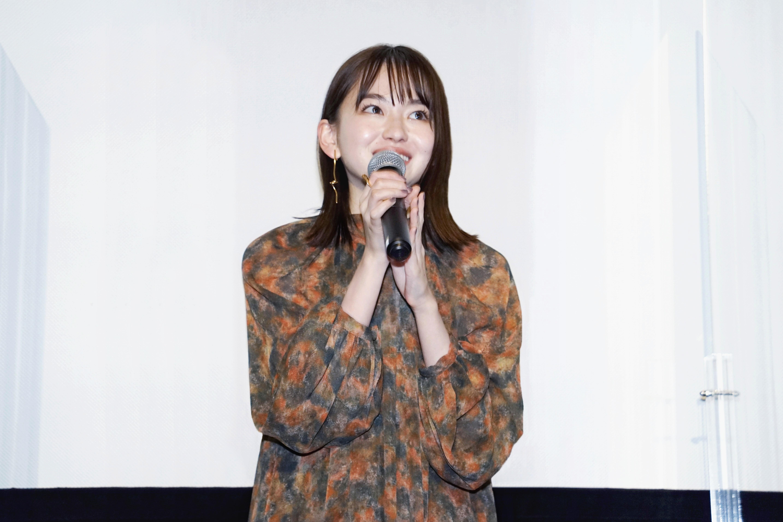 【写真】映画『ひらいて』完成披露舞台挨拶 (山田杏奈)