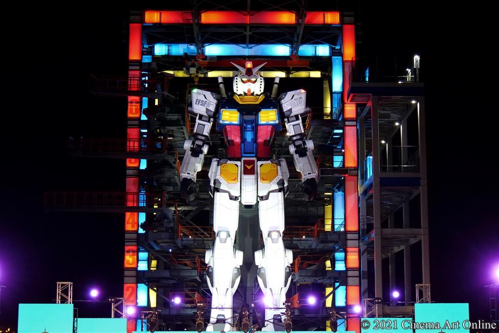 """【写真】映画『機動戦士ガンダム 閃光のハサウェイ』[Alexandros] LIVE中継@YOKOHAMA GANDAM FACTORY (""""動くガンダム"""" RX-78F00)"""