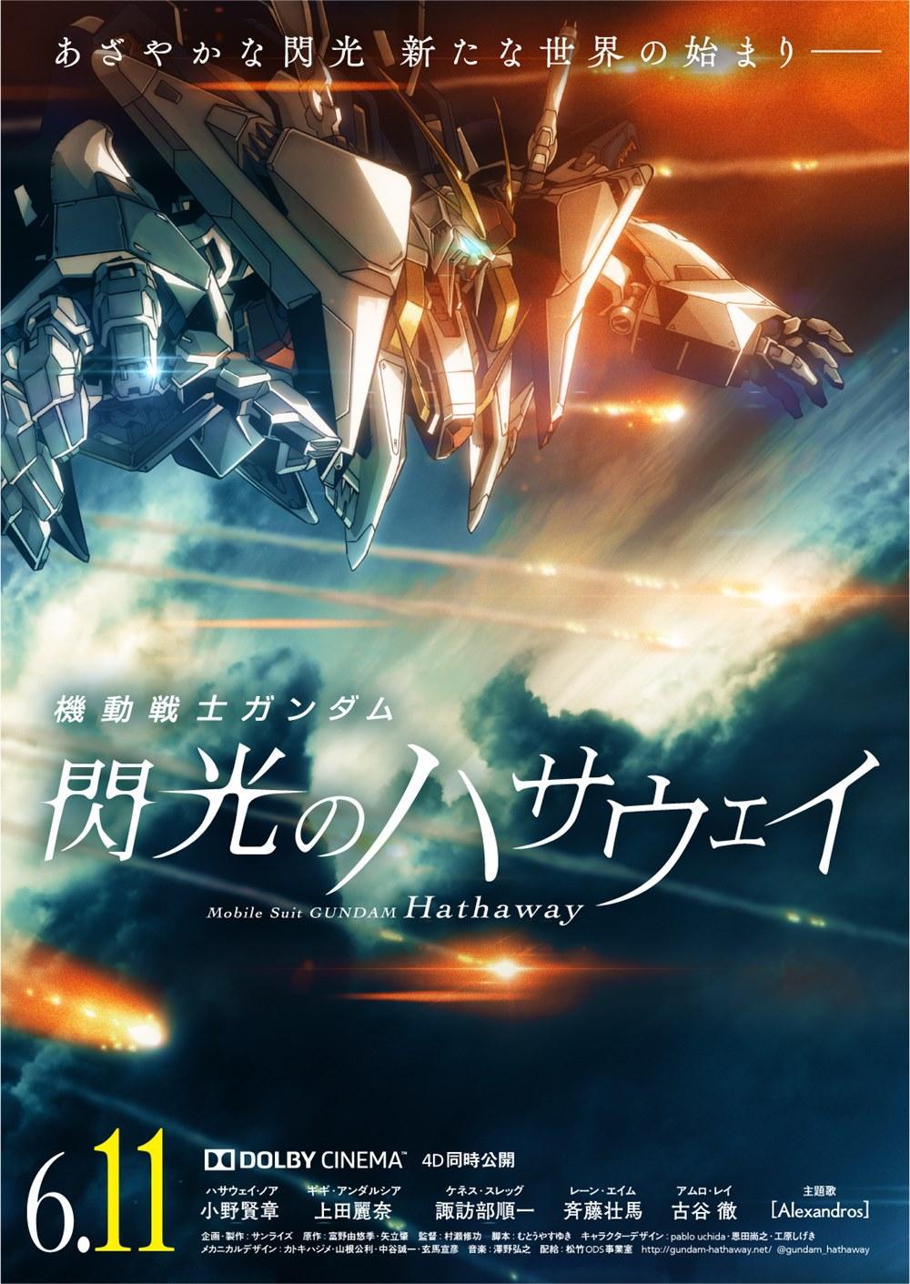 【画像】映画『機動戦士ガンダム 閃光のハサウェイ』ポスタービジュアル